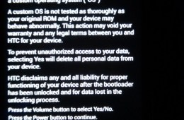 Proof of an AT&T HTC One bootloader unlock.
