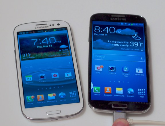 The Samsung Galaxy S4 is driving the trade in price for the Galaxy S3 down.
