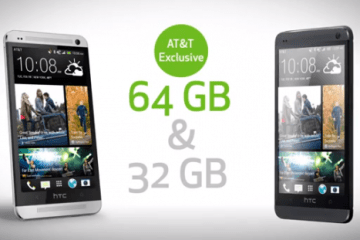 The AT&T HTC One will be the only one with 64GB of storage.