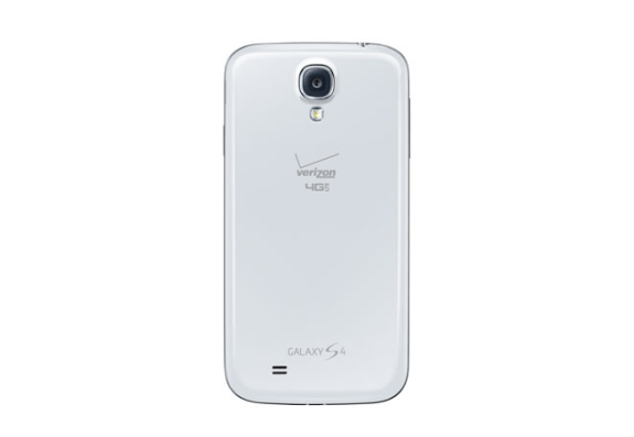 Verizon's Galaxy S4 only features minimal branding.