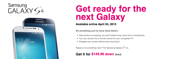 The T-Mobile Galaxy S4 is coming to the Magenta carrier next week.