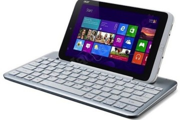 The Acer Iconia W3 with keyboard dock.