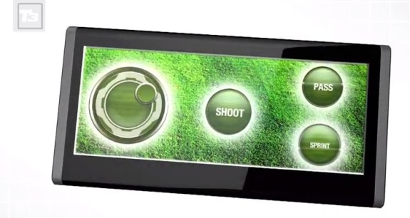 The back display could become a controller for games, leaving the front of the device open for watching the game.