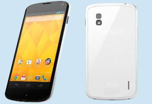 The white Nexus 4 from LG.