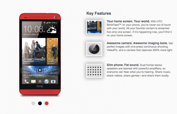 The red HTC One could be joined by a blue HTC One.