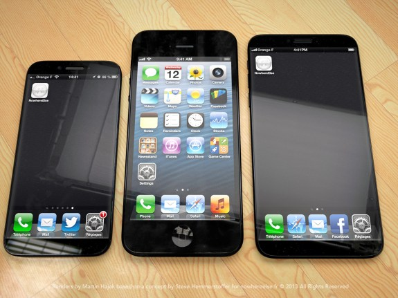iPhone 6 concept showing a larger 4.8-inch display.