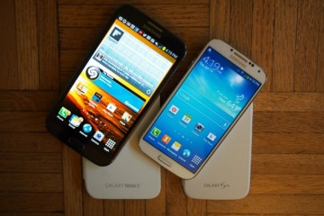 The Galaxy Note 2 and Galaxy S4. Rumors point to a Galaxy Note 3 with a larger display and 1080P HD resolution.