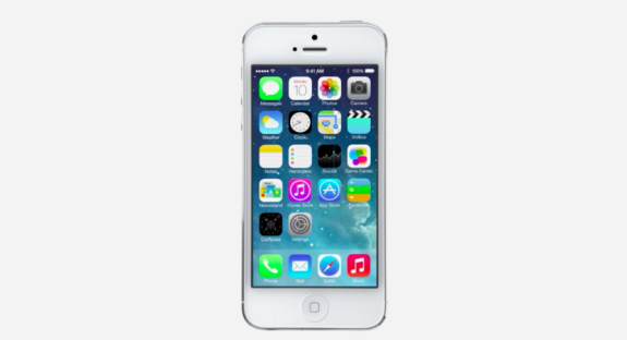 iOS 7 will arrive for devices in the fall but for developers, today.