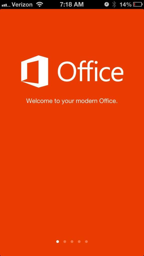 office mobile splash screen