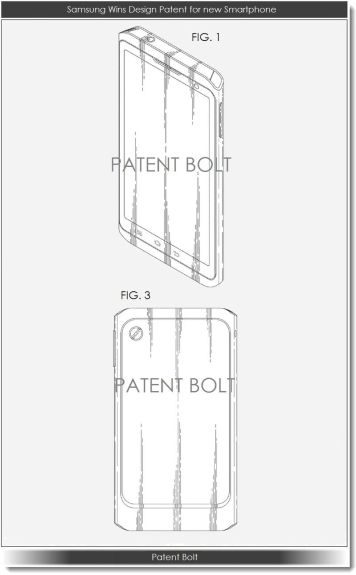 Samsung design patent, via Patent Bolt