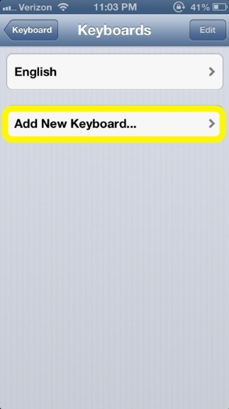 Add Keyboard