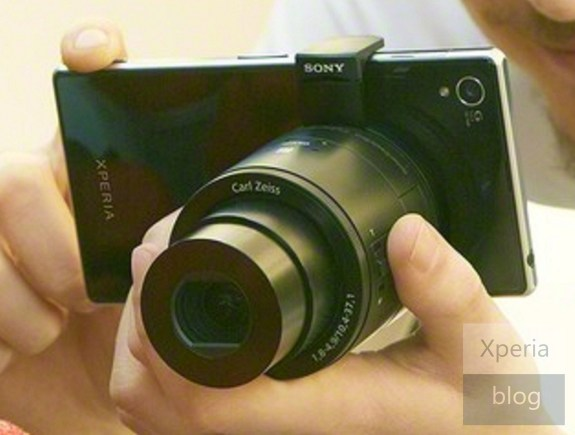 Pictured: Leaked image of the Honami with its own 20.7-megapixel Sony G camera lens and optional interchangeable lens that communicates with the camera via NFC and WiFi connection.