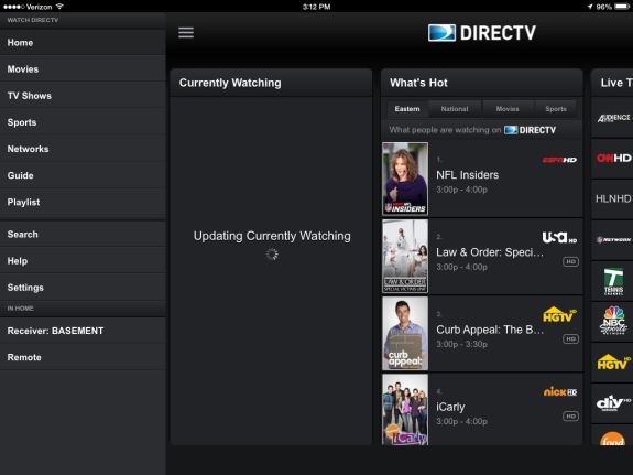 directv redesigned ipad app