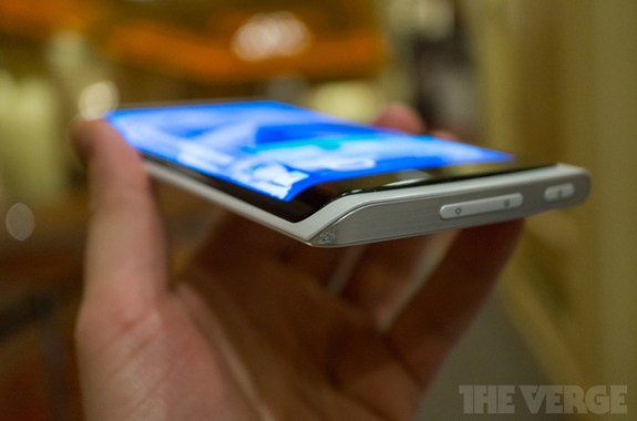 Is Samsung ready to commercialize its flexible display phone concept? Image via The Verge.