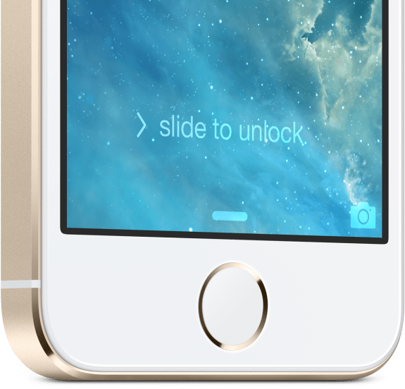 This is the new iPhone 5S fingerprint sensor.