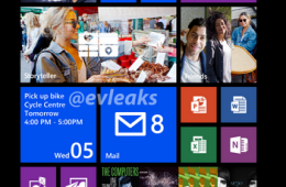 A screenshot taken from the Nokia Lumia Bandit, posted by Evleaks.