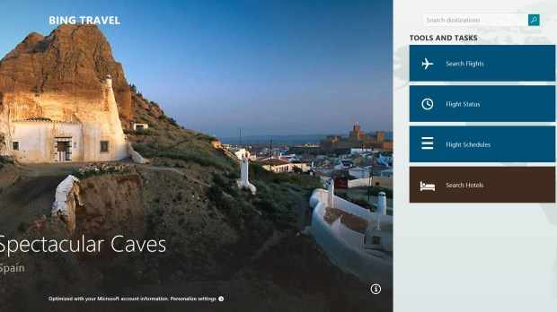 The Bing Travel App
