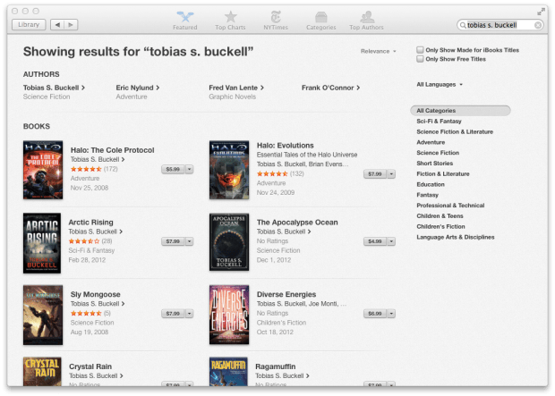 Users can now read and buy iBooks inside iBooks for OS X Mavericks.