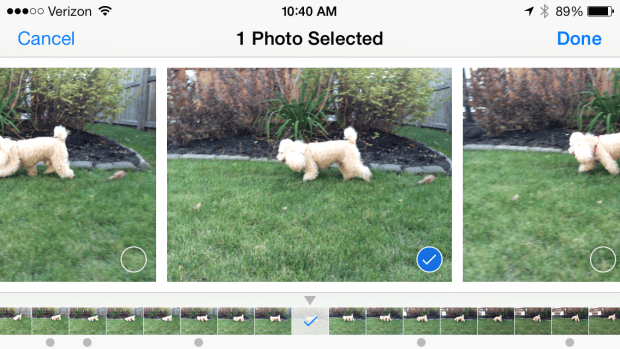 iPhone 5s users gain more control over burst mode photos in recent updates.