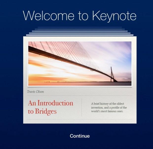 keynote in icloud
