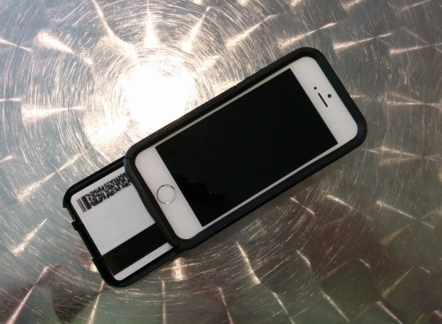 The OtterBox iPhone 5s Commuter Series Wallet offers protection and holds up to three cards.