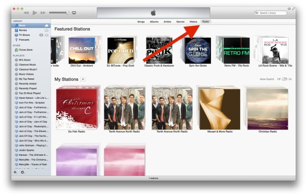 itunes radio on computer
