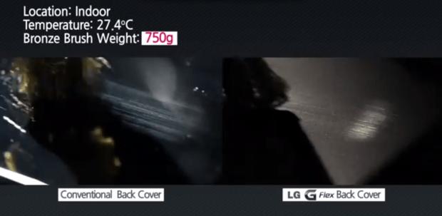 lg g flex sratch video