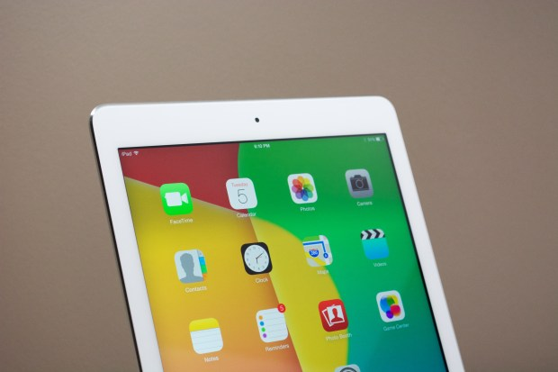 The Retina display is a major iPad feature for the iPad Air and new iPad mini.