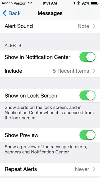 Manage notifications for better iPhone 5s battery life.