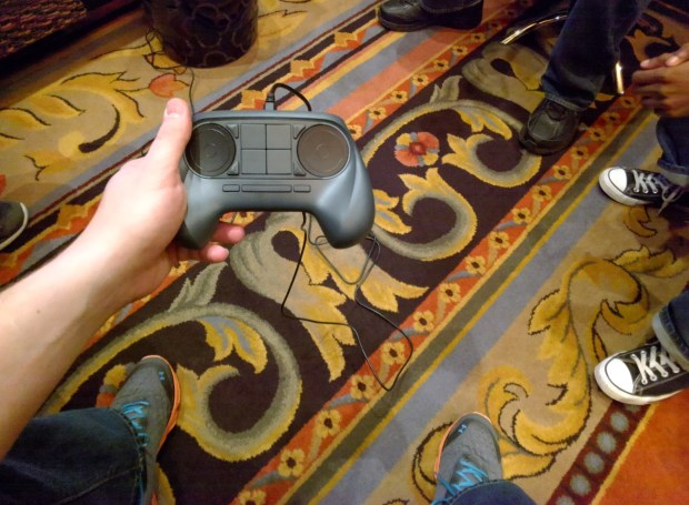 The Steam Machine controller.