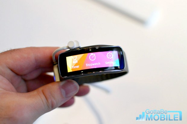 The Gear Fit is an attractive looking Galaxy S5 companion.