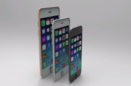 This iPhone 6 concept shows small, medium and large iPhone 6 models.