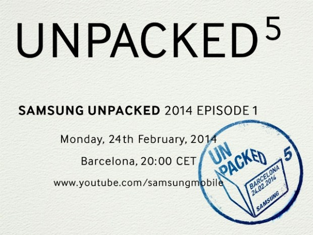 The Samsung Unpacked 5 event will start early on February 24th.