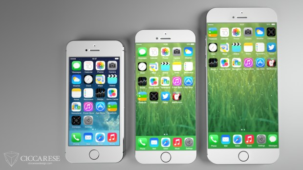iPhone 6 concept with larger screens.