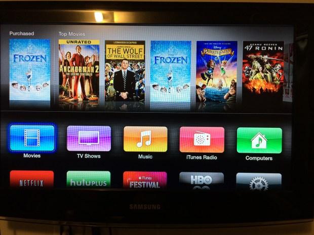 apple tv user interface