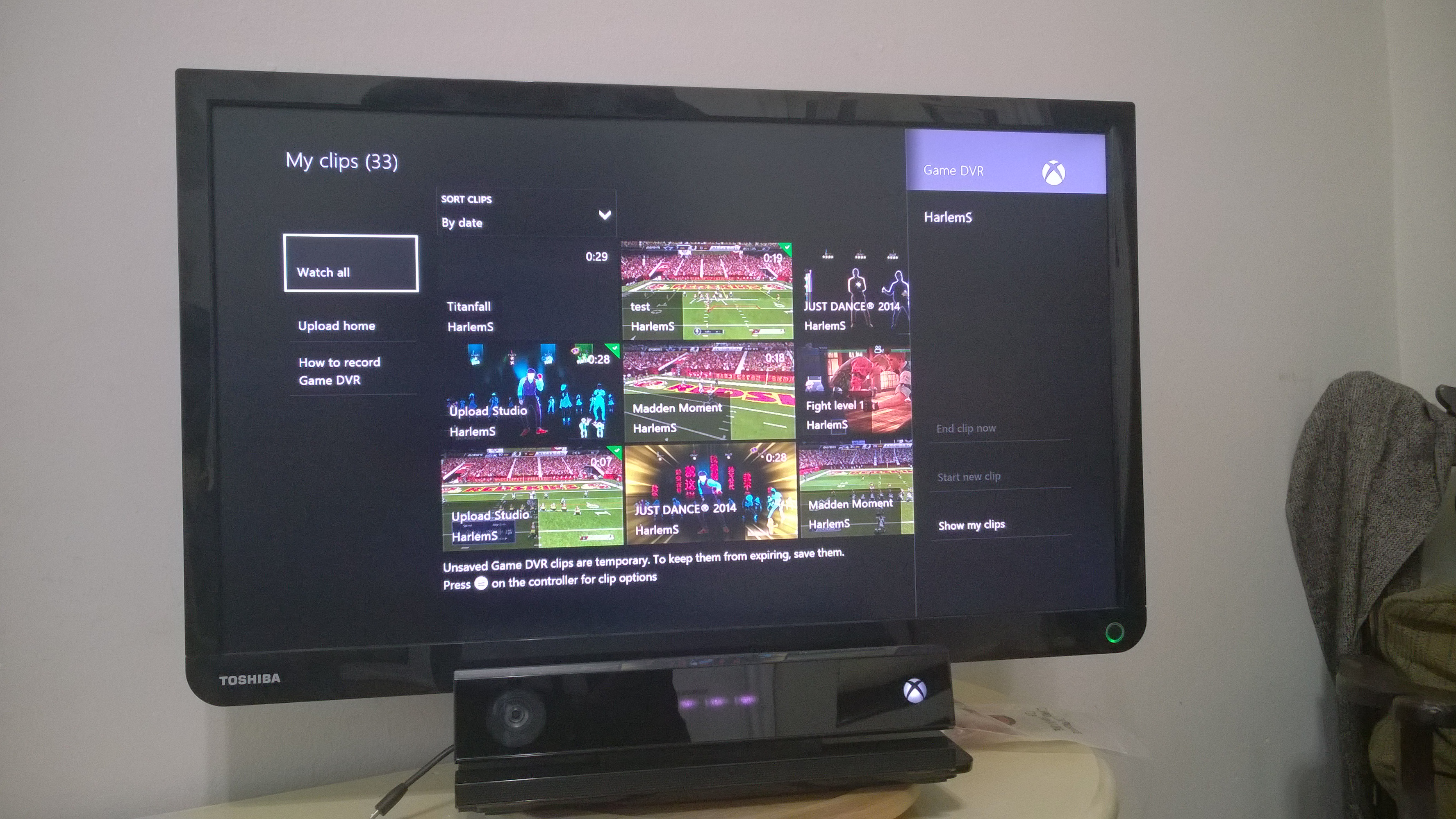 how to put xbox one clip on youtube