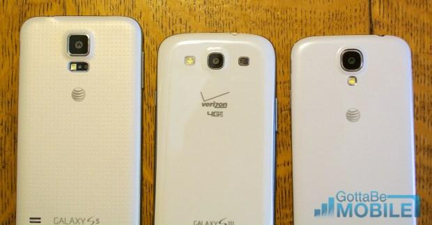 Samsung Galaxy S5 vs Galaxy S3 vs Galaxy S4 - Cameras