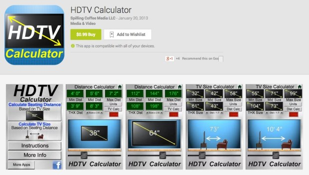 HDTV Calculator for Android