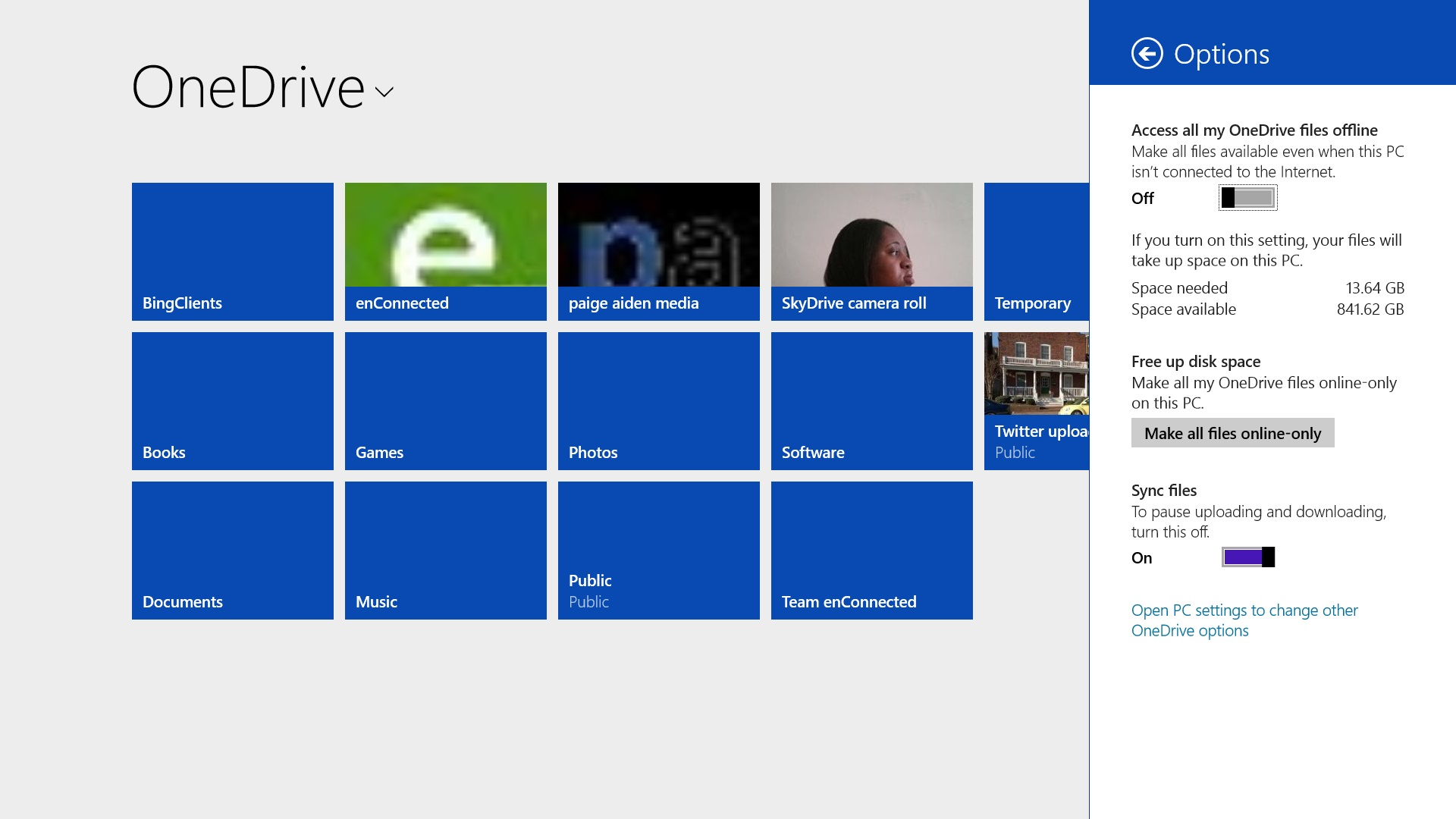 How to sync your onedrive pictures documents to windows 8 for Documents folder to onedrive