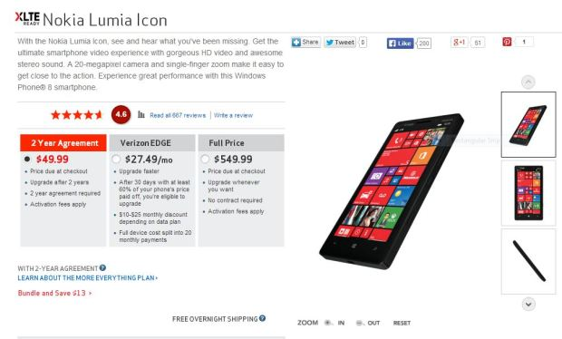 Nokia Lumia Icon Price Cut