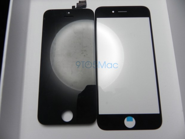 iPhone 5s vs iPhone 6 size, using screen glass part.