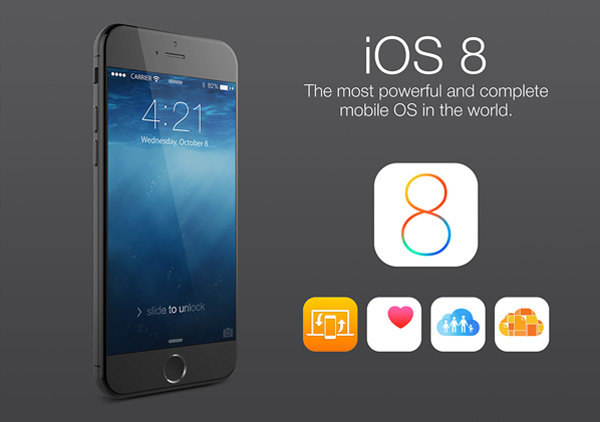 iOS 8 is expected to debut with the iPhone 6.