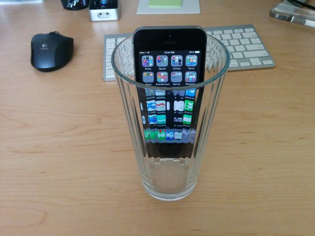 iPhone-in-a-glass