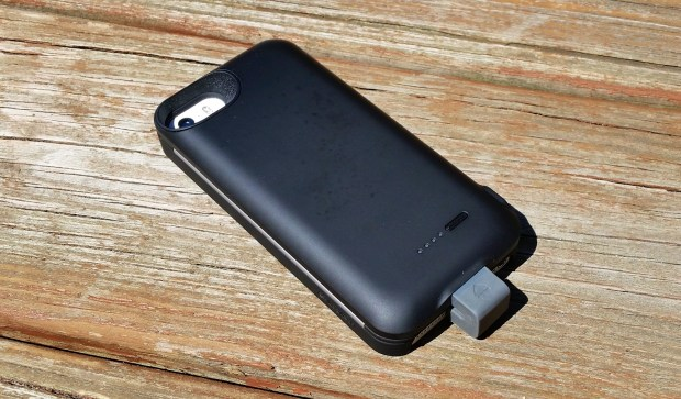 Add battery power with the Case+ battery pack.
