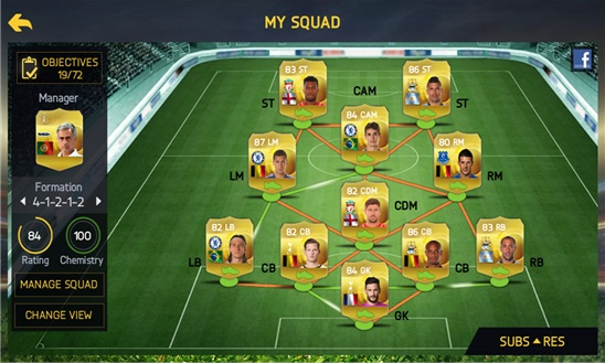 Build your perfect Ultimate Team.