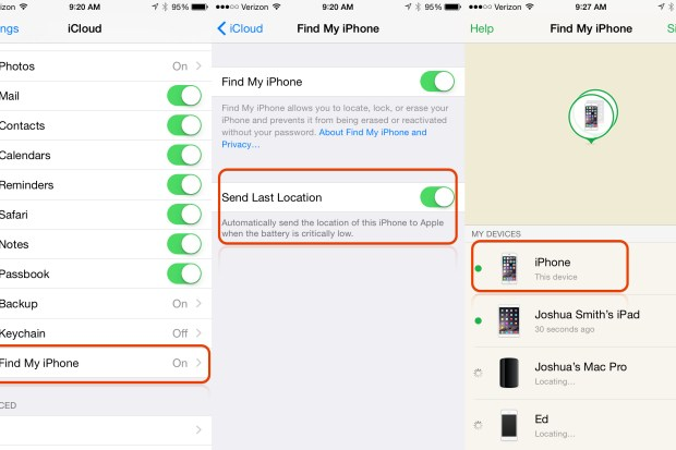 Find Lost iPhone dead battery