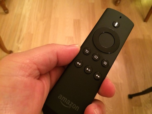 The remote is easy to use and includes voice search.