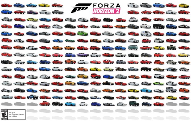 Forza Horizon 2 is packed full of cars from classics to super cars.