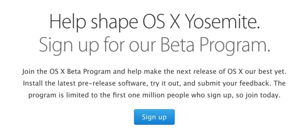 You can still join the OS X Yosemite beta
