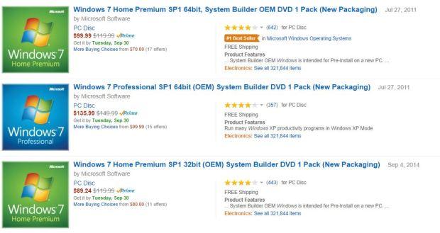Windows 7 Amazon